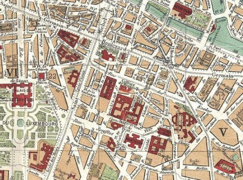 The Latin Quarter on an 1892 map