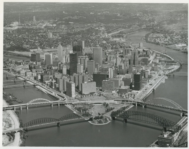 2-Downtown Pittsburgh after the Renaissance, ca. 1969