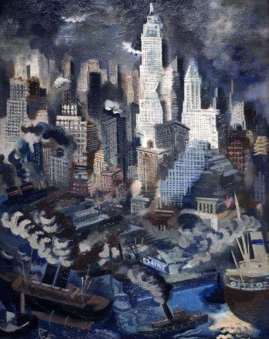 Grosz Lower Manhattan 1934